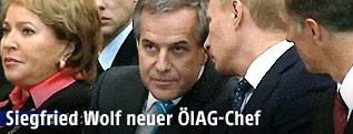 Siegfried Wolf im Gespräch mit Wladimir Putin