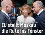 EU-Außenbeauftragte Catherine Ashton beim EU-Außenministertreffen