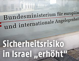 Schild des Außenministeriums