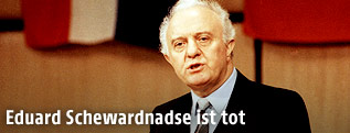 Eduard Schewardnadse 1989 in Wien