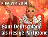 Feiernde deutsche Fans