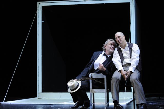 "Gert Voss und Tobias Moretti in ""Faust"""
