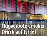 Leerer Check-In-Bereich auf dem Ben-Gurion-Flughafen in Tel Aviv