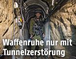 Israelischer Soldat in Tunnel