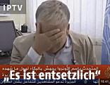 Chris Gunness bricht vor laufender Kamera in Tränen aus