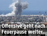 Rauchsäule nach israelischem Luftangriff auf Gaza