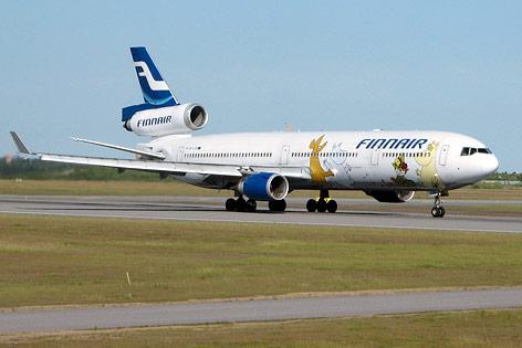 Finnair-Flugzeug mit Mumin-Motiv