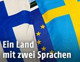 Schwedische und Finnische Fahne