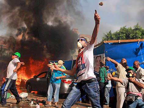 "Ausschreitungen am Platz ""Rabaa al-Adawija"" in Kairo im August 2013"