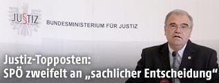 Justizminister Wolfgang Brandstetter