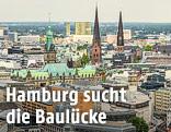 Blick auf die Hamburger Innenstadt