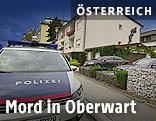 Polizeiauto vor Tatort