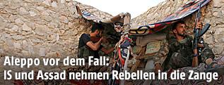 Kämpfer der syrischen Armee in Aleppo