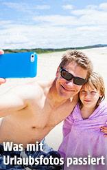 """Vater macht ein """"Selfie"""" mit seiner Tochter"""