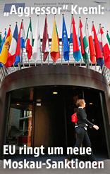 Eingang zur Europäische Kommission in Brüssel