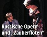"""Gerd Grochowski in der Rolle des Wotan und Karen Robertson als Fricka bei der Oper """"Die Walküre"""""""