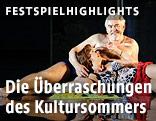"""Szene aus """"Geschichten aus dem Wiener Wald"""", der Zauberkönig und Valerie"""