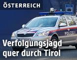 Polizeiautoe steht auf der Straße