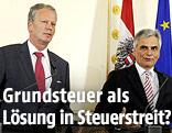 Vizekanzler Reinhold Mitterlehner und Bundeskanzler Werner Faymann
