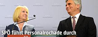 Verkehrsministerin Doris Bures (SPÖ) und Bundeskanzler Werner Faymann