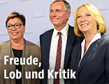 Bundeskanzler Werner Faymann, Abgeordnete Sabine Oberhauser (SPÖ), Gesundheitsminister Alois Stöger (SPÖ) und Verkehrsministerin Doris Bures (SPÖ)