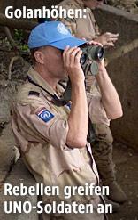 UNO-Blauhelm auf dem Golan