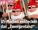 SPÖ-Wahlkampfmaterial in Form von Gatenzwergen