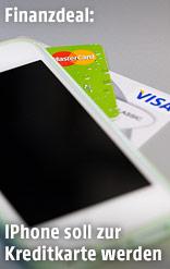 Kreditkarten und ein iPhone