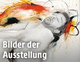 Detail einer Arbeit von Arnulf Rainer