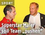 Teamchef Marcel Koller und Hermann Maier