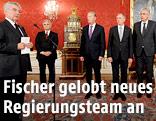 Angelobung der neuen Regierungsmitglieder durch Bundespräsident Heinz Fischer