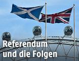 Britische und Schottische Fahne