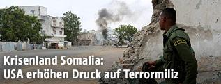 Feuergefecht in Mogadischu