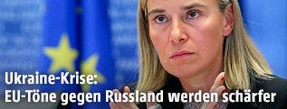Die designierte EU-Außenbeauftragte Federica Mogherini