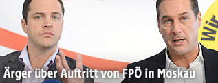 FPÖ-Vizeparteichef Johann Gudenus und FPÖ-Chef Heinz-Christian Strache