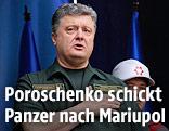 Der ukrainische Präsident Petro Poroschenko in Uniform