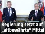 Vizekanzler Mitterlehner und Bundeskanzler Faymann