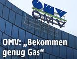 OMV-Logo auf einem Gebäude