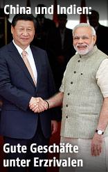 Indischer Premier Modi und chinesischer Präsident Xi Jinping