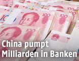 Hunderte Yuan-Banknoten