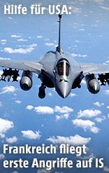 Französischer Rafale-Kampfjet in der Luft