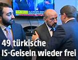 Begrüßung der freigelassenen türkischen Geiseln