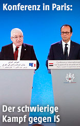 Französischer Präsident Hollande und irakischer Präsident Masum
