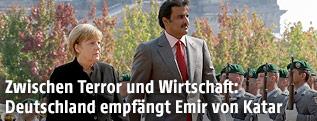 Deutsche Bundeskanzlerin Angela Merkel und der Emir von Katar Tamim bin Hamad Al Thani