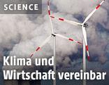 Windturbinen vor Braunkohlekraft