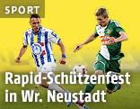 Mario Pollhammer (Wr. Neustadt) und Florian Kainz (Rapid)