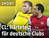 Santi Cazorla Arsenal) und Jakub Blaszczykowski (Borussia Dortmund)