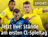 Jack Wilshere (Arsenal) und Ciro Immobile (Dortmund)