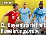 Philipp Lahm (Bayern München) und Yaya Toure (Manchester City)