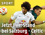 Andre Ramalho (Salzburg) and Stefan Scepovic (Celtic)